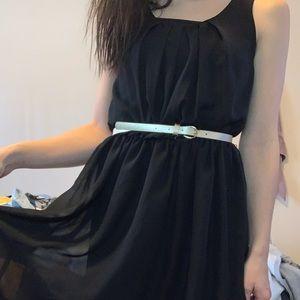 Dresses & Skirts - black dress with gold belt